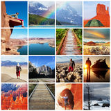 Hike collage stock photography
