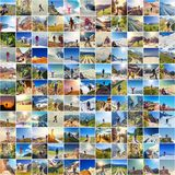 Hike in collage Royalty Free Stock Images