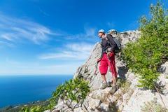 Hike in Crimea Stock Image