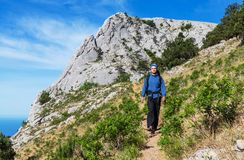 Hike in Crimea Royalty Free Stock Images