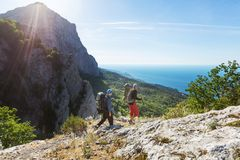 Hike in Crimea Stock Photo