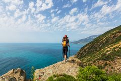 Hike in Crimea Royalty Free Stock Photos