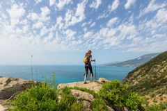 Hike in Crimea Royalty Free Stock Photography