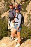 Hike da família Fotografia de Stock Royalty Free