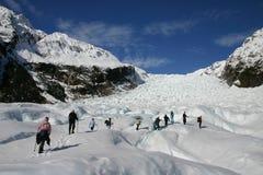 Hike da geleira Fotografia de Stock Royalty Free