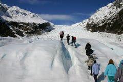 Hike da geleira Imagens de Stock Royalty Free