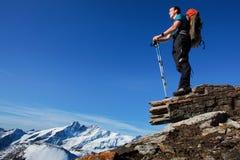 Hike da montanha fotos de stock royalty free