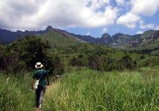 Hike da montanha em África do Sul Foto de Stock