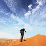 Hike in the desert Stock Photo