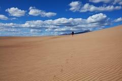 Hike in desert Stock Photography