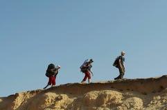 Hike in desert Stock Photo