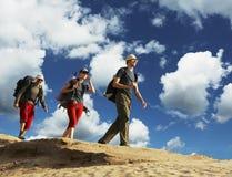 Hike in desert Royalty Free Stock Photo