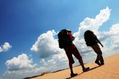 Hike in the desert Stock Image