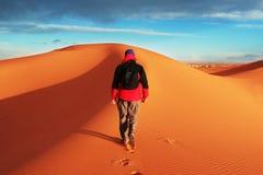 Hike in desert Stock Image