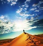 Hike in desert Stock Photos