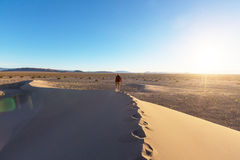 Hike in desert Royalty Free Stock Image