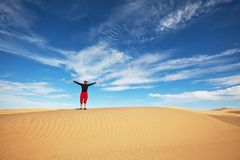 Hike in desert Royalty Free Stock Photography