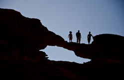 Hike in the desert Royalty Free Stock Photo