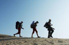 Hike in desert1 Royalty Free Stock Image