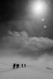 Hike do inverno Fotografia de Stock