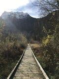 Hike do inverno Imagem de Stock Royalty Free
