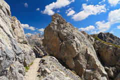 Hike in Dolomites Royalty Free Stock Image