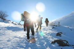 Hike dos invernos foto de stock