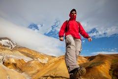 Hike em Islândia Fotografia de Stock