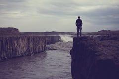 Hike em Islândia fotos de stock royalty free
