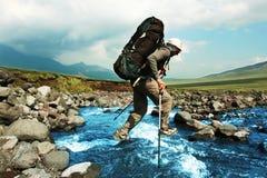 Hike em Kamchatka Imagens de Stock Royalty Free