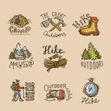 Hike emblems Stock Image