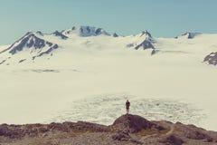 Hike in Exit glacier Stock Image