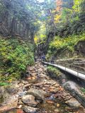 Hike the Flume Stock Photography