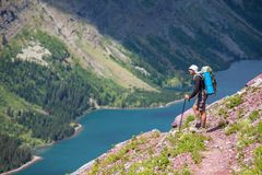 Hike in Glacier Stock Image