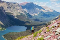 Hike in Glacier Stock Photos