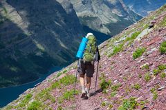 Hike in Glacier Royalty Free Stock Image