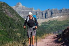Hike in Glacier Stock Image