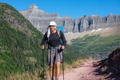 Hike in Glacier Royalty Free Stock Images
