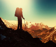 Hike in Glacier Stock Photography