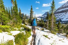 Hike in Glacier Royalty Free Stock Photos