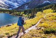 Hike in Glacier Stock Photos