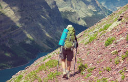 Hike in Glacier. National Park, Montana royalty free stock photos