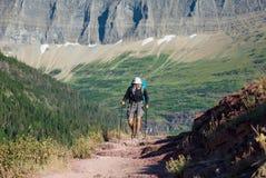 Hike in Glacier Park Stock Image