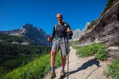 Hike in Glacier Park Royalty Free Stock Photo