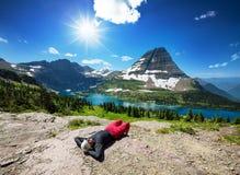 Hike in Glacier Park Royalty Free Stock Image