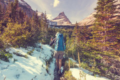 Hike in Glacier Park Royalty Free Stock Photography