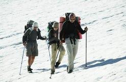 In hike on glacier Stock Image