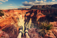 Hike in Grand Canyon Royalty Free Stock Photo