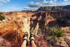 Hike in Grand Canyon Stock Image