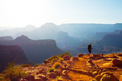 Hike in Grand Canyon Stock Photo